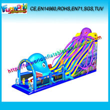 Ocean Oady Inflatable Giant Slide Park,Inflatable Land Park With Sea Animals