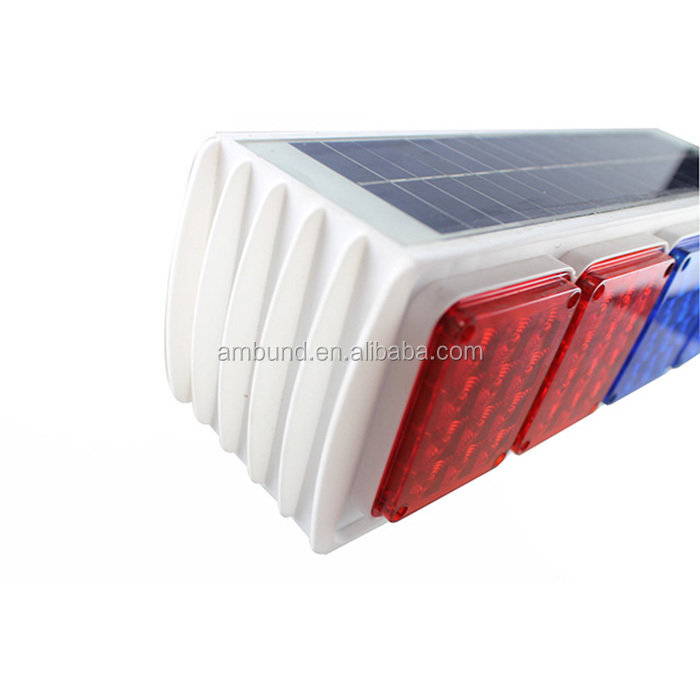 SWL-A001 (double sides)IP67 Road safety solar powered led traffic strobe light