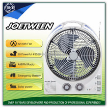 12'' rechargeable table fan of over charge and deep discharge protection with best price
