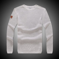 men's latest designs 100%cotton fine guage knitted pullover sweater