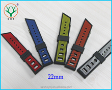 22mm Soft Silicon Rubber Diver Sport Watch Band Strap