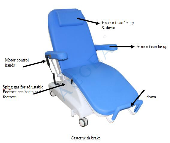 AG-XD301 electric adjustable dialysis recliner treatment radiotherapy chemotherapy chairs price