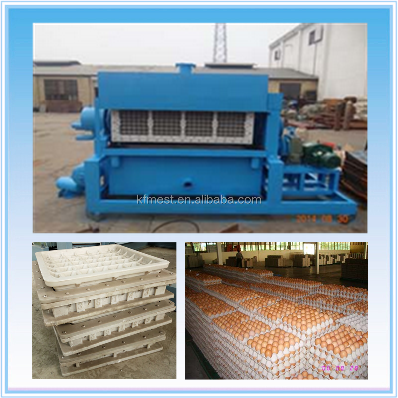 Recyclable Waste Paper Pulp Molding Egg Tray Forming Machine / Small Egg Carton Machine / Egg Carton Making Machine
