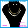 gold & pearl pendant necklace wholesale 2015 new design