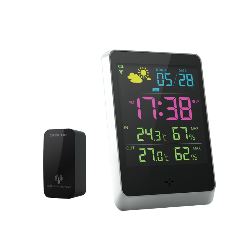 Wireless WiFi Weather Station Forecast Thermometer Humidity Sensor Indoor Outdoor