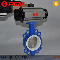 cast iron wafer type pneumatic butterfly valve