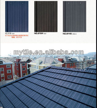 Flat clay roof tile for building material