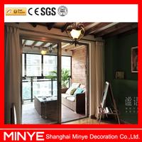 China manufacturer high quality sliding door with grill design/ aluminum garden door patio sliding glass door /aluminum door