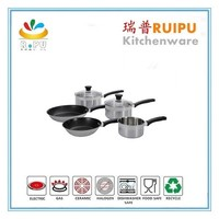 2015 new products stainless steel cookware pot and pan set /Rena ware with induction bottom