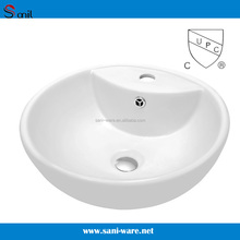 SN126-521 Sanitary top mount bathroom ceramic washbasin for vanity