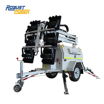 Hydraulic LED mining use Dual Axle Trailer Light Tower Price