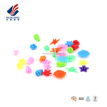 NINGBO HUALONG bicycle accessories manufacture 36 pcs colored kids bicycle wheel spoke decoration