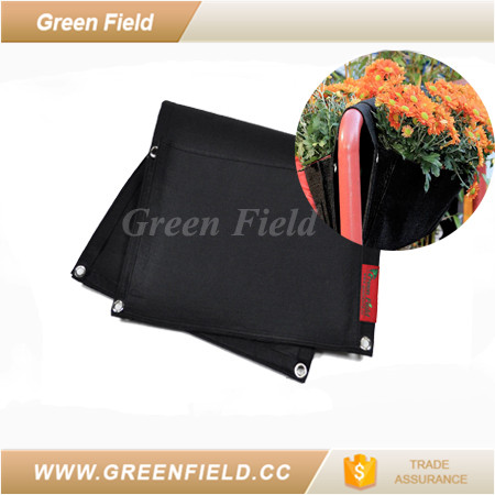 Half wall planter grow bag wholesale flower pot