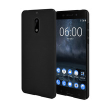 for Nokia 6 Rubber PC Case Black Slim Fit Slight Back Cover