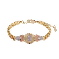 74717 xuping hot selling virgin guadalupe id tricolor bracelet 18k gold plated fashion bracelet jewelry