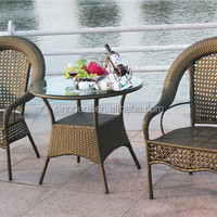 Unique Wicker Table Chair Set Rattan