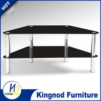 2016 promotional Stainless steel and glass tv stand