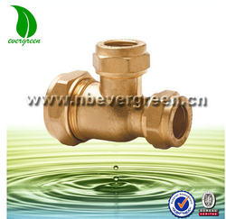 Brass Pipe Reducer Tee Fitting