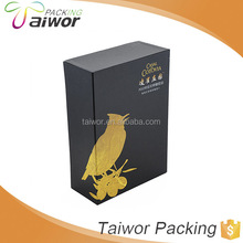 Luxury Olive Oil Matt Lamination Satin Lining Lid and Base Paper Gift Box