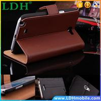 10pcs/lot Elegant Real Genuine Leather Case for Samsung Galaxy Note 2 II N7100 Wallet Stand Cover With Card Slots YXF01252
