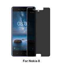 2017 Factory New 0.33mm anti spy dark 180 Privacy Tempered Glass Screen Protector for Nokia 3 5 6 8