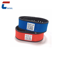 QR print new design nfc smart silicone bracelet adjustable rfid nfc silicone wristband for event