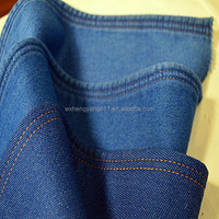 Dobby denim fabric indigo color
