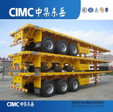 CIMC 40T Flat Bed Trailer With Fuwa Axle