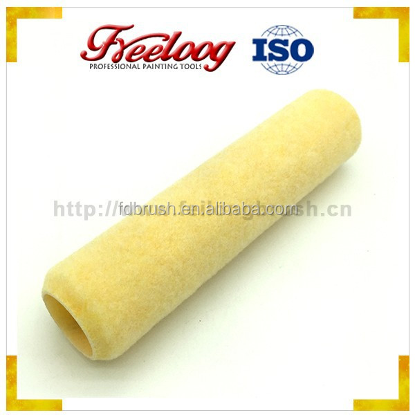 "9"" yellow roller cover with customized logo"