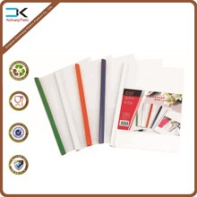 Transparent cover one side clip pp plastic stick file folder