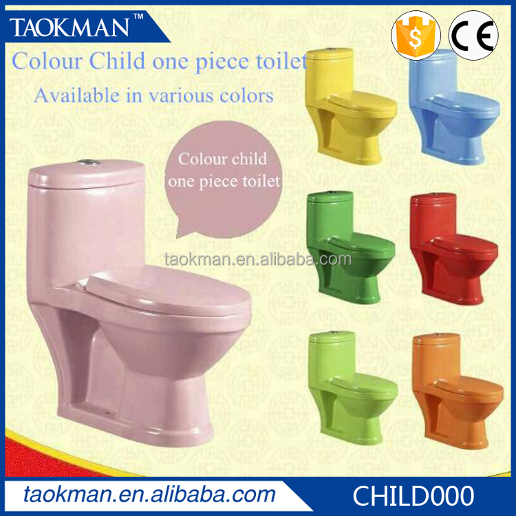 Child wc Colour children one picee toilet Available in various colors