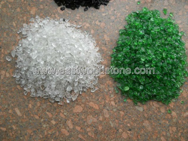 landscaping colored glass rock