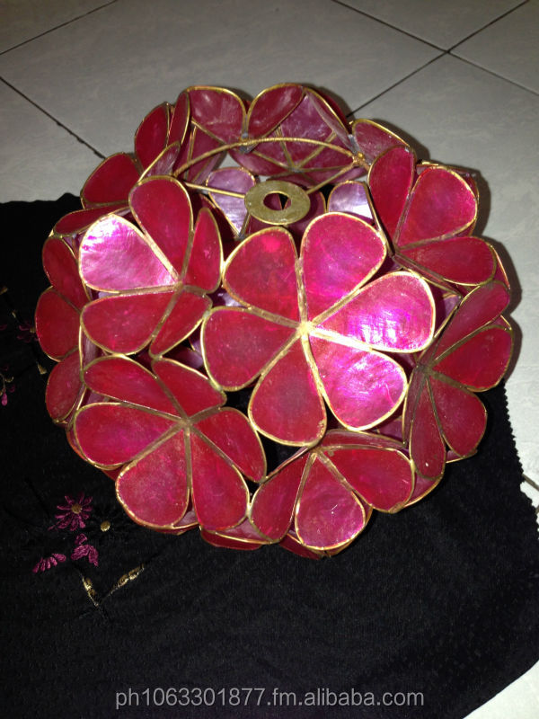 Capiz Flower Ball - Small