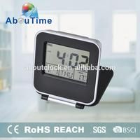 Digital Flip Travel Alarm Clock with Thermometer