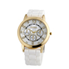 promotional shell dial diamond wrist watches multi colors silicone watch