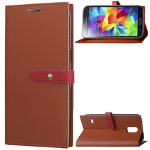 Nice PU Leather Wallet Flip TPU Back Phone Cover Case with Cards Holder for Samsung S5