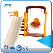 kids indoor playground equipment plastic swing and slide set toys kids for sale