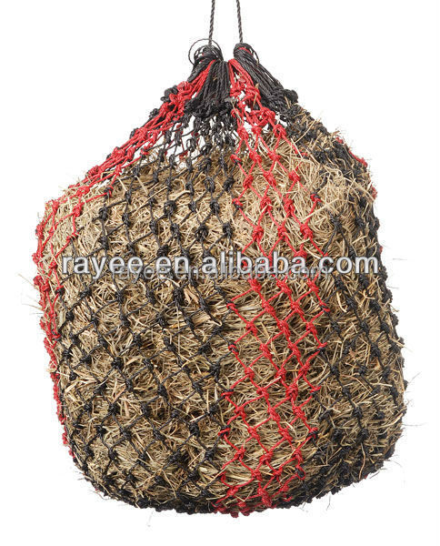 "38"" Horse Trawler Hay Net, Slow Feed Hay Bag White and Black, feno do cavalo alimentador net"