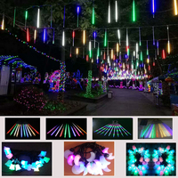 Outdoor led decoration running led meteor serial lights for christmas