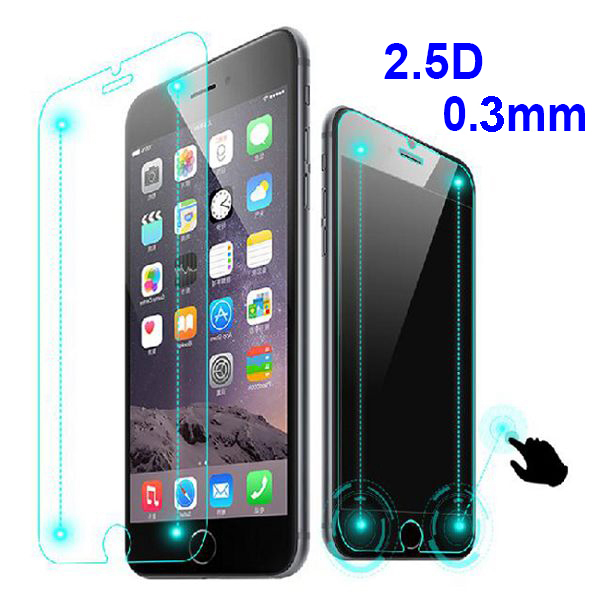 for iPhone 6 6 Plus Smart Touch 9H Tempered Glass 2.5D 0.3MM Screen Protector with Smart Confirm Menu Key & Home Return Button