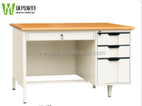 Special project desk design MDF top school teacher office desk/L shape manager modern office desk with large cabinet