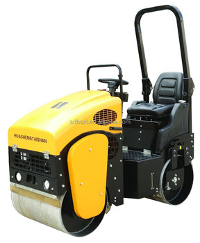 Ride-on double drum mini vibratory road roller for sale 1 ton