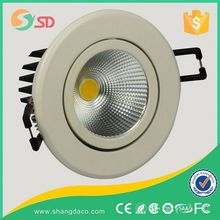 LED recessed round Downlight/spotlight, Suitable for Domestic Decoration, 3w-24w 2-6.5inch, AC85-265V