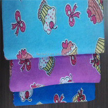 cvc fabric baby printed flannel lined suitable for pajama