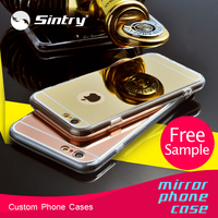 free sample wholesale cover for mobile phone tpu mirror case makeup case with lighted mirror case for samsung galaxy s4