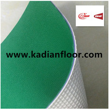 professional BWF approved pvc green badminton rubber floor