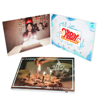 Lcd Screen Promotion 4.3inch Video Brochure Uv Birthday Invitation Card