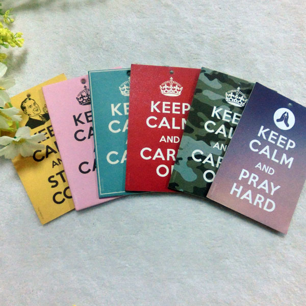 OEM auto custom Cotton Paper Hanging Car Air Freshener