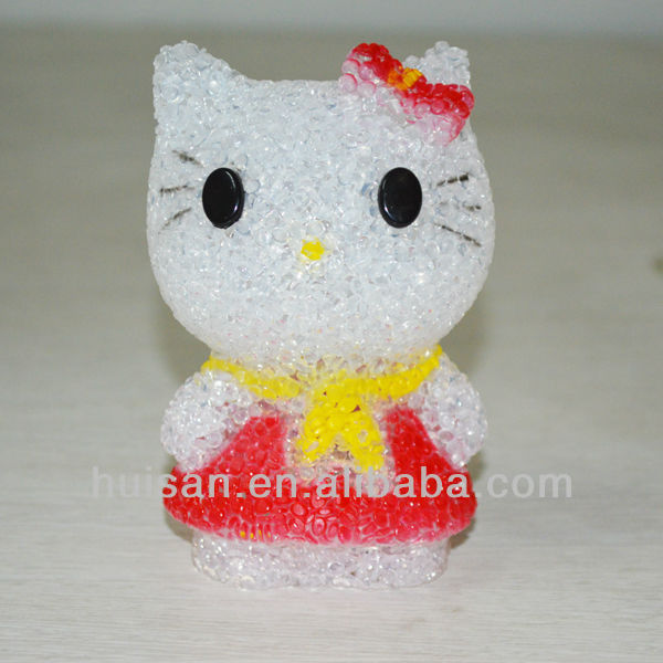 hello kitty led light/childrens party gifts/plastic buddha light