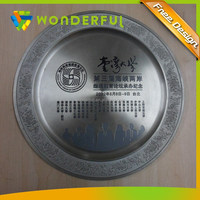 Folk Art Style and Souvenir,Awards Use Customized Metal Medal Plate